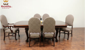 Lisa Antique Style Upholstered Dining Table