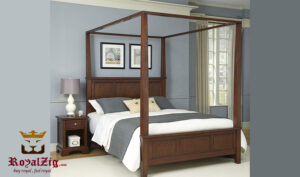 Lupus Moderrn Italian Style Four Poster Bed Online in India