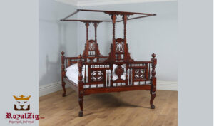 Luxury Classic Style Anglo Indian Four Poster Bed Online in India