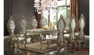 Luxury Dining Table Hand Carved Teak Wood