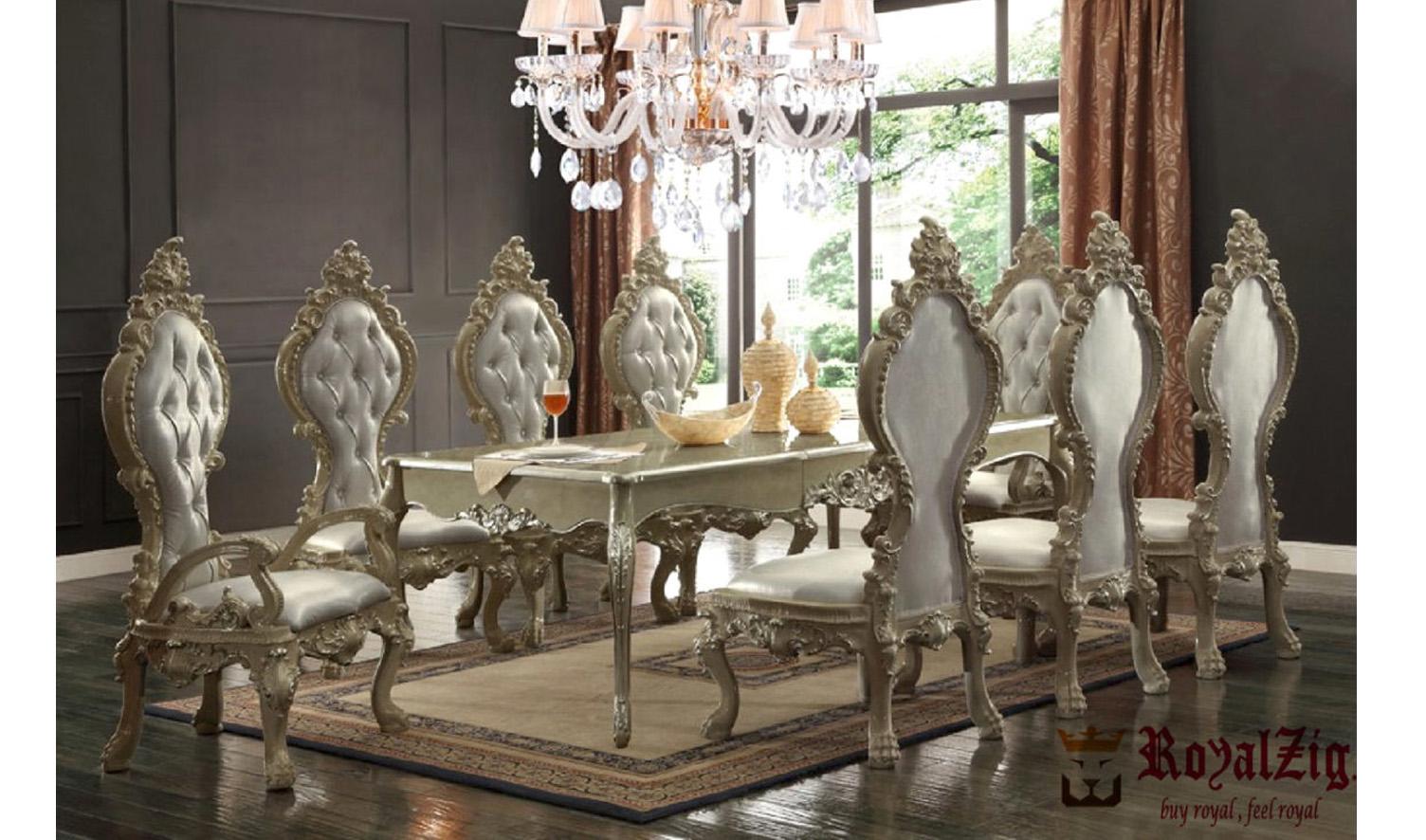 Luxury Dining Table Hand Carved Teak, Teak Wood Dining Room Table