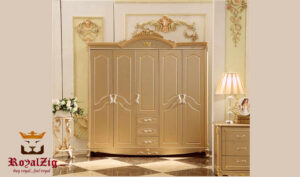 Luxury Italian Style Golden Wardrobe