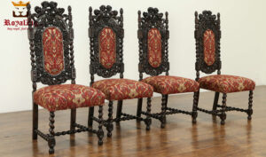 Maharaja Antique Style Hand Carved Dining Chair