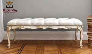 Malabar Classical Style Teak Wood Bench