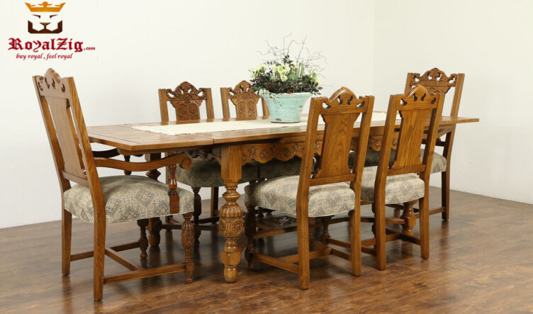 Marcus Antique Style Handcrafted Dining Table