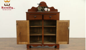 Margaret Antique Style Walnut Color Pantry