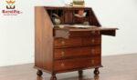 Marina Antique Style Handcrafted Secretary Desk
