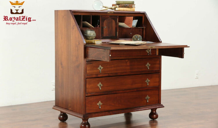 Marina Antique Style Handcrafted Secretary Desk