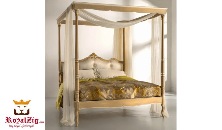 Martian Classic Style Four Poster Bed Online in India