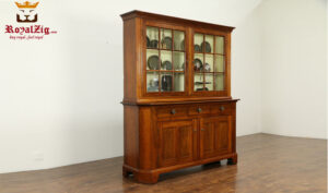 Mary Antique Wooden Display Cupboar