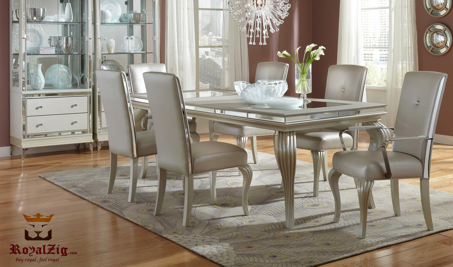 Median Modern Luxury Italian Style Dining Table