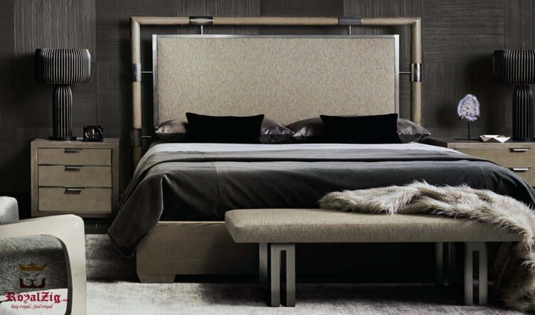 Metal Accent Luxury Queen Bed