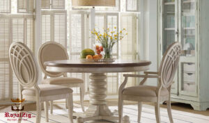 Miami Rustic Round Dining Table (1)