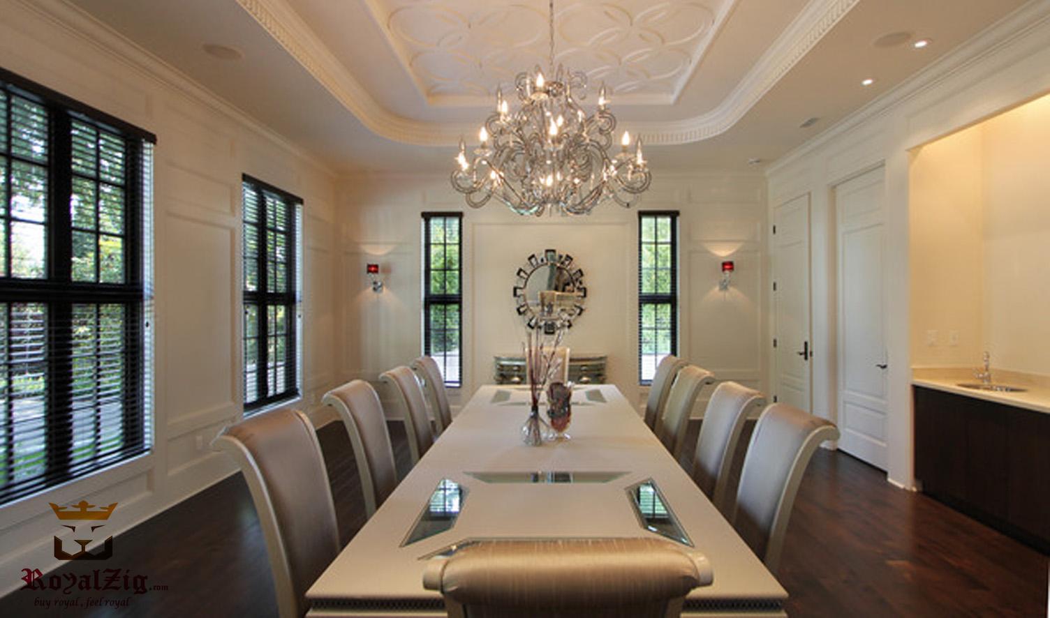 Royalzig Modern Luxury 10 Seater Dining Table