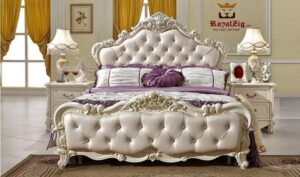 Munro Italian Classic High Headboard Carving Bed