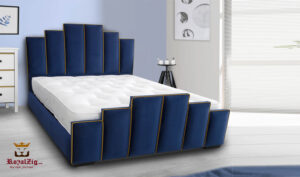 New York Tower Deco Upholstered Luxury Queen Bed Buy Online Brand Royalzig