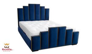 New York Tower Deco Upholstered Luxury Queen Bed Buy Online Brand Royalzig