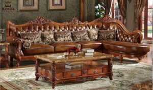 Nungambakkam Designer Hand Carved Corner Sofa Set Brand Royalzig Online in India