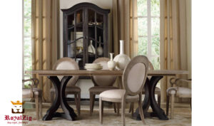 Palm Jumeirah Modern Luxury Round Dining Table Online in India