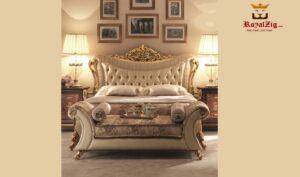 Queen Lara French Style Luxury Bedroom Set Brand Royalzig Online in India
