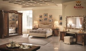 Queen Lara French Style Luxury Bedroom Set Brand Royalzig Online in India