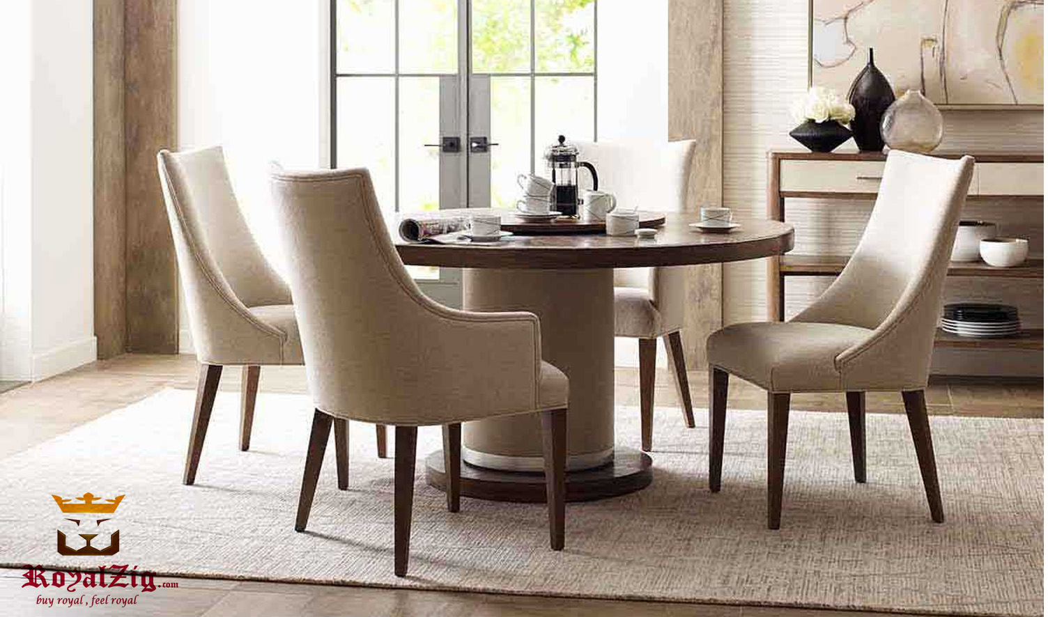 Radlett Modern Luxury 4 Seater Round Dining Table