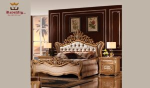 Romania Hand Carving Luxury Bed Brand Royalzig Luxury Furniture