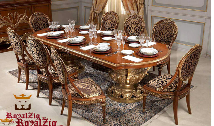 Royal Carving Dining Table Online in India