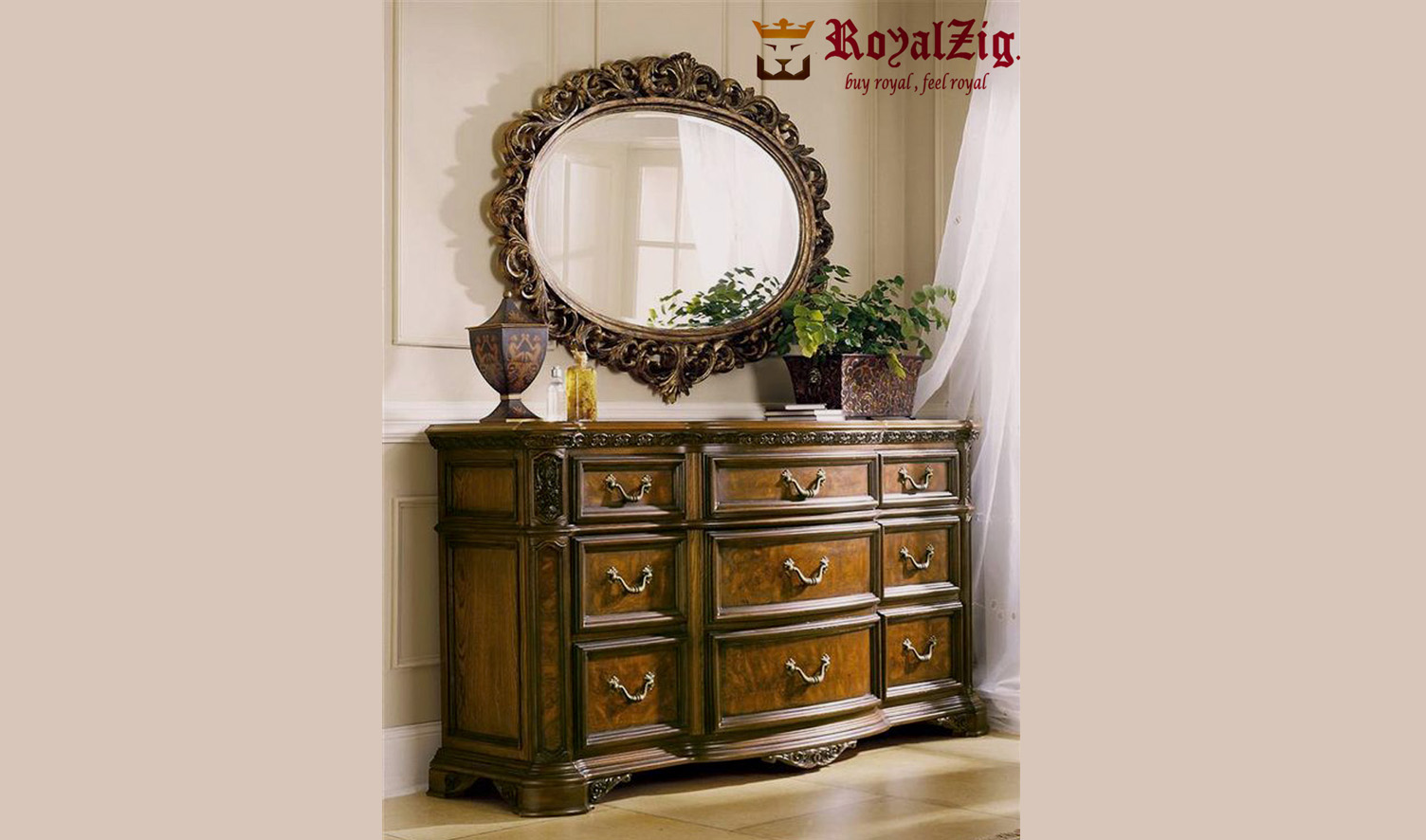 Royal Chest Of Drawers Hand Carved 1