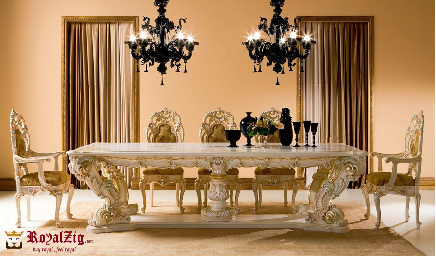 Persian Style Luxury Dining Table Set