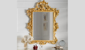Royal Ivory and Gold Dressing Table And Mirror Set Online in India