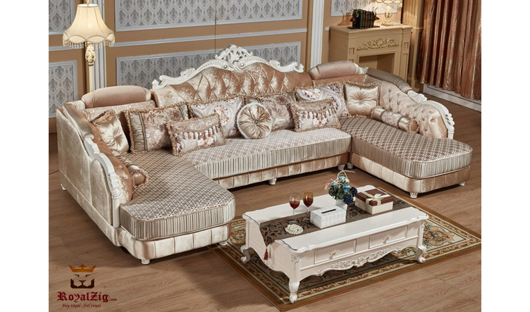 Royal Luxury Corner Sofa Set Brand Royalzig Online in India