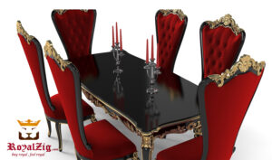 Royal Victorian Hand Carving Dining Table Online in India