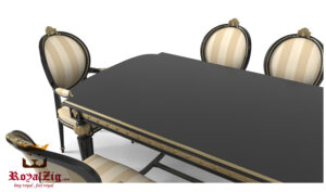 Royalzig Classical Style Carved Dining Table Online in India