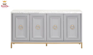 Royalzig Media Sideboard in Dove Gray Finish
