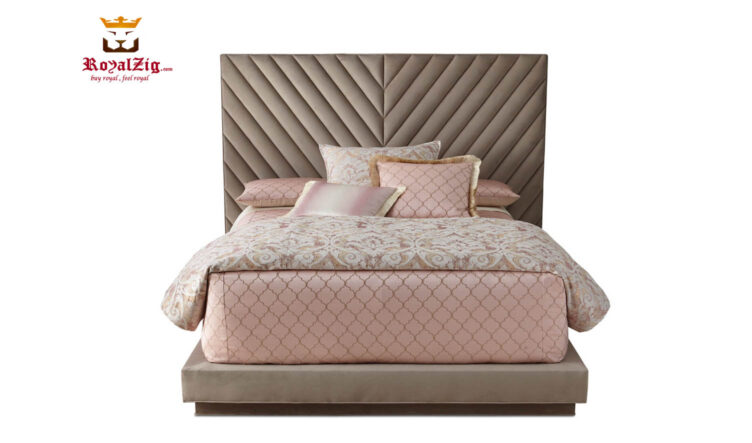 Royalzig Upholstered King Platform Bed