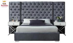 Royalzig Upholstred Platform Bed