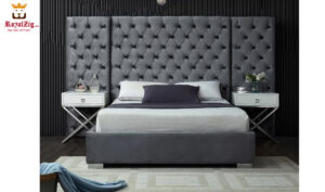Royalzig Upholstered Platform Bed