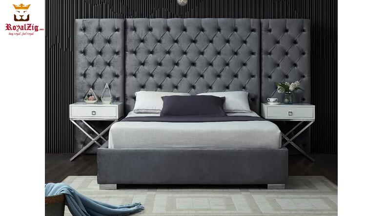 Royalzig Upholstered Platform Bed