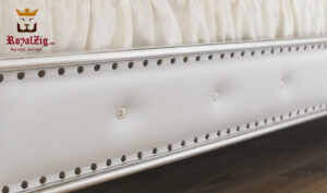 Siliva Hand Caved Tufted Headboard Double Bed Grade 1 Teak Wood Buy Online Brand Royalzig
