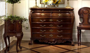 Teak Wood Carved Chest Of Drawers