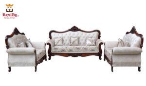 Teak Wood Hand Carved Viz Sofa Set