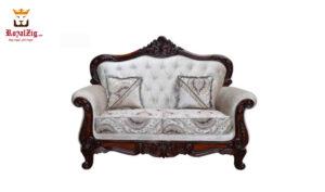 Teak Wood Hand Carved Viz Sofa Set Brand Royalzig Handicrafts