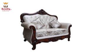 Teak Wood Hand Carved Viz Sofa Set Brand Royalzig Handicrafts Buy Online in India