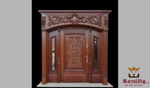 Teak Wood Hand Carved Wooden Door