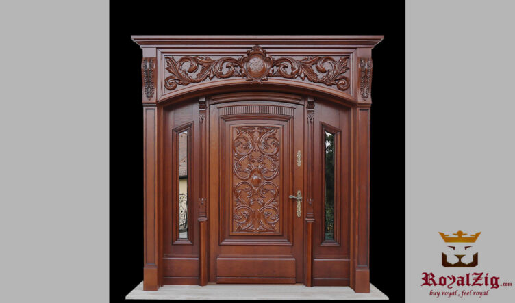 Teak Wood Hand Carved Wooden Door