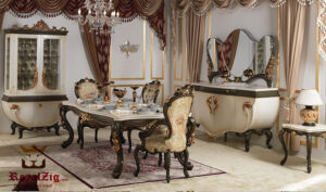 Vanessa Luxury Hand Carved Dining Table