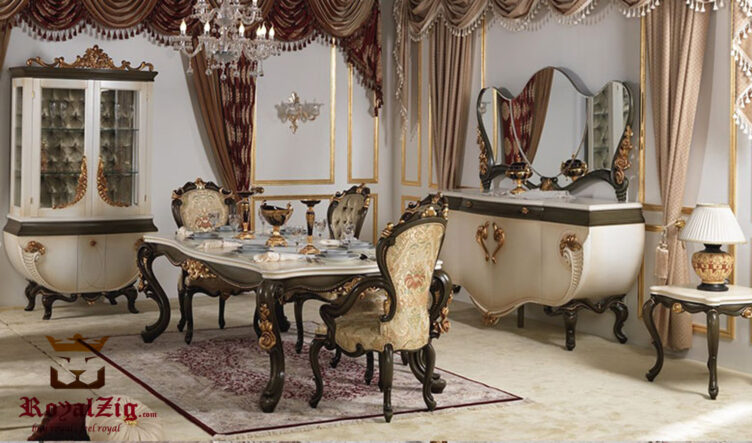 Vanessa Luxury Hand Carved Dining Table Online in India