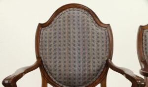 Venessa Antique Style Walnut Dining Arm Chair
