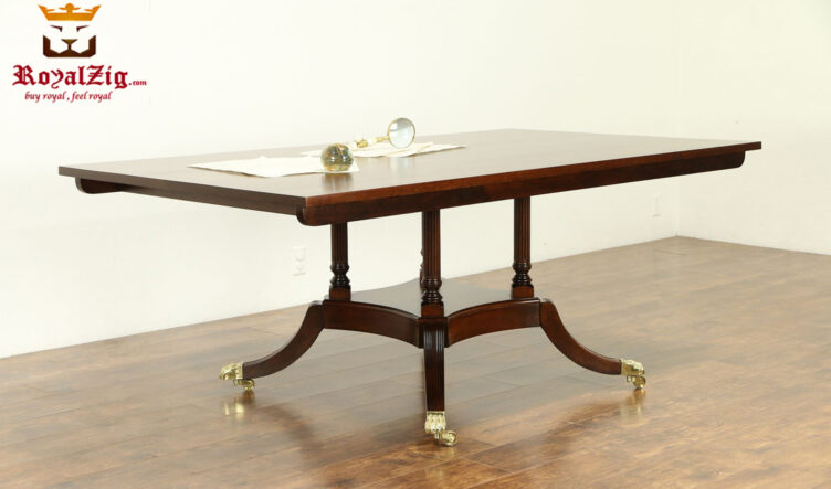 Victorian Style Teak Wood Conference Table
